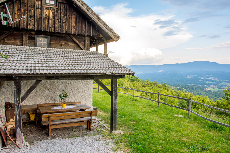 slovenian cottage in the hills