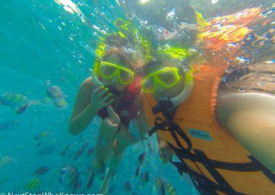 Snorkelling off the coast of Phuket, Thailand