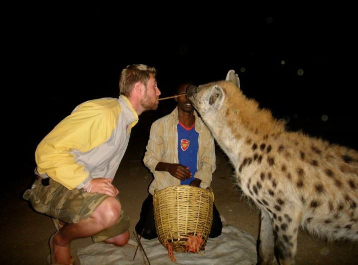 johnny and a hyena